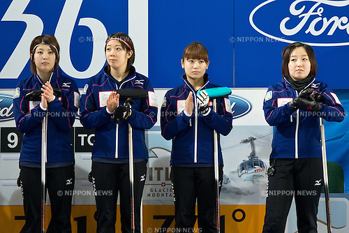 Japan team (JPN), .MARCH 20, 2013 - Curling : .World  Women's Curling  Championship 2013 at Volvo Sport Center, Riga, Latvia, (Photo by Enrico Calderoni/AFLO SPORT)