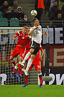 Niklas Süle (Deutschland Germany) gegen Iury Gazinsky (Russland, Russia) - 15.11.2018: Deutschland vs. Russland, Red Bull Arena Leipzig, Freundschaftsspiel DISCLAIMER: DFB regulations prohibit any use of photographs as image sequences and/or quasi-video.