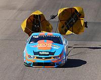 Feb 24, 2018; Chandler, AZ, USA; NHRA pro stock driver Alex Laughlin during qualifying for the Arizona Nationals at Wild Horse Pass Motorsports Park. Mandatory Credit: Mark J. Rebilas-USA TODAY Sports