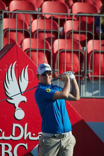 19.01.2013 Abu Dhabi, United Arab Emirates.  Bernd Wieseberger in action during the European Tour HSBC Golf championship  third round from the Abu Dhabi Golf Club.