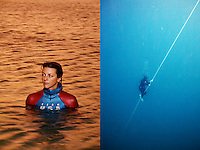 Ashley Futral is a member of the USA Freedive Team, and can dive deeper than 200 feet on one breath.