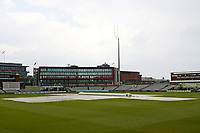 General view as rain delays play during Lancashire CCC vs Essex CCC, Specsavers County Championship Division 1 Cricket at Emirates Old Trafford on 10th June 2018
