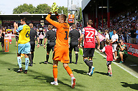 Henrik Dalsgaard was given the captain's armband for Brentford and led the team onto the pitch during Brentford vs Rotherham United, Sky Bet EFL Championship Football at Griffin Park on 4th August 2018