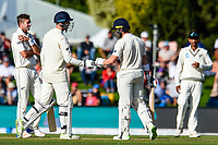 Mark Stoneman(l) and James Vince of England get to 100 partership during Day 3 of the Second International Cricket Test match, New Zealand V England, Hagley Oval, Christchurch, New Zealand, 1st April 2018.Copyright photo: John Davidson / www.photosport.nz