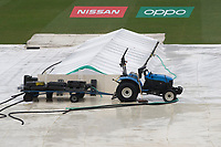 Conditions were still looking bleak at 12.45 as the covers on and the rain still pouring during Pakistan vs Sri Lanka, ICC World Cup Cricket at the Bristol County Ground on 7th June 2019