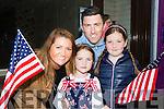 Karina, Jonathan, Ellie and Ruby Greene Killarney enjoying  the USA Independence parade in Killarney on Monday evening