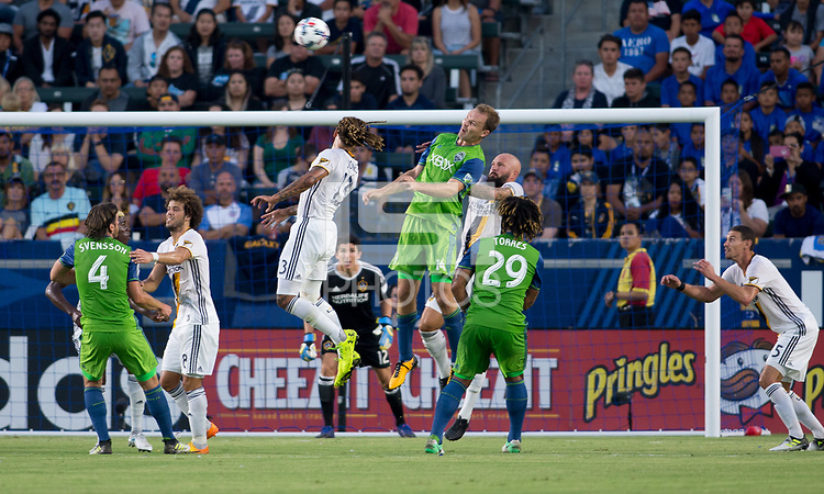 Carson, CA - Saturday July 29, 2017: Chad Marshall during a Major League Soccer (MLS) game between the Los Angeles Galaxy and the Seattle Sounders FC at StubHub Center.