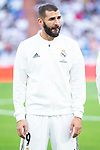 Real Madrid Karim Benzema during Santiago Bernabeu Trophy match at Santiago Bernabeu Stadium in Madrid, Spain. August 11, 2018. (ALTERPHOTOS/Borja B.Hojas)