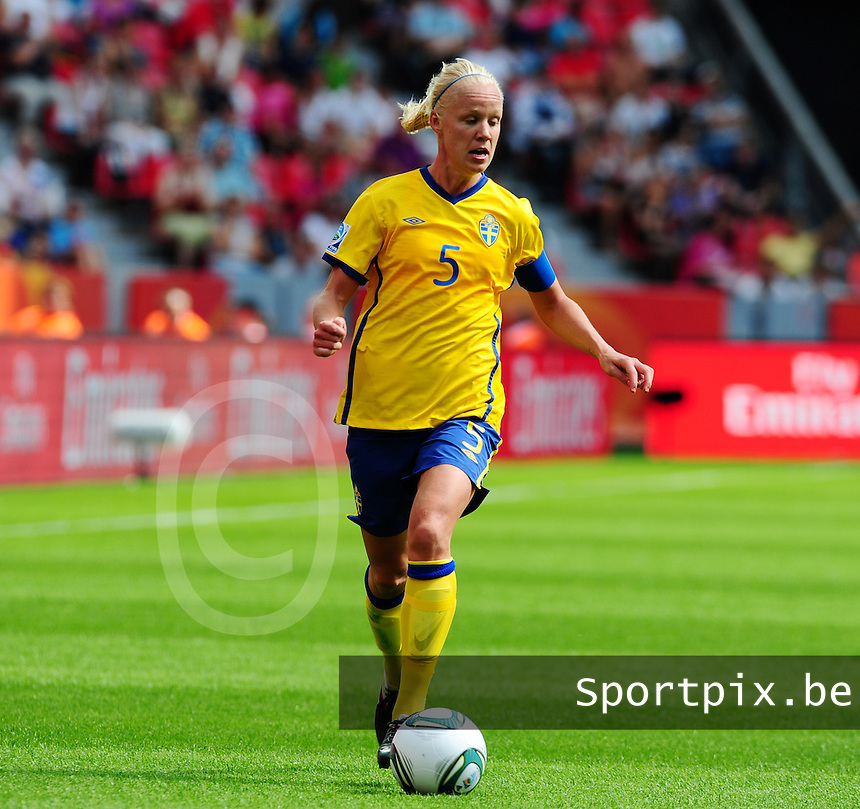 Fifa Women's World Cup Germany 2011 : Colombia - Sweden at Bayarena Leverkusen : Caroline Seger.foto DAVID CATRY / Vrouwenteam.be