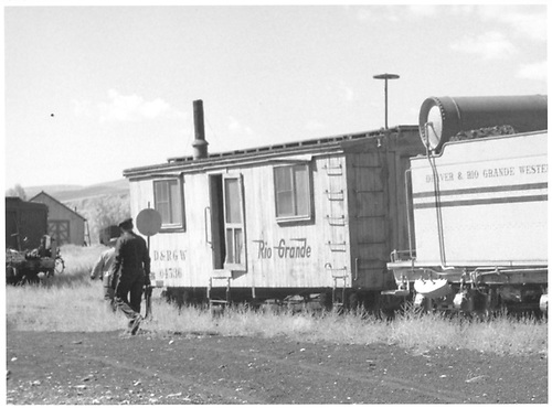 Sleeper (?) 04536 at Gunnison.<br /> D&amp;RGW  Gunnison, CO  Taken by Richardson, Robert W. - 10/5/1954