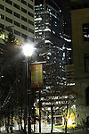 Lights around McDougall School and the Courthouse in Downtown Calgary