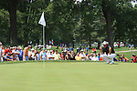 Darren Clarke (NIR) playing the 2nd green on day 1of the World Golf Championship Bridgestone Invitational, from Firestone Country Club, Akron, Ohio. 4/8/11.Picture Fran Caffrey www.golffile.ie