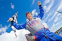 8-10 August 2008  Algonac, MI USA.Tim Seebold celebrates victory..©F.Peirce Williams 2008