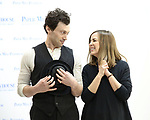 "Bryce Pinkham and Hannah Elless during the preview presentation for the Paper Mill Playhouse production of  ""Benny & Joon"" at Baza Dance studios on 3/21/2019 in New York City."