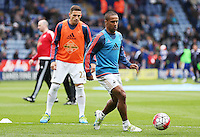 Wayne Routledge of Swansea City warms up before the Barclays Premier League match between Leicester City and Swansea City played at The King Power Stadium, Leicester on April 24th 2016