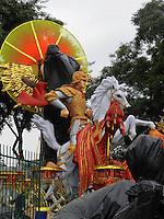 SÃO PAULO, SP, 05 DE FEVEREIRO 2013. CARNAVAL 2013 - MOVIMENTACAO. Movimentacao de carros alegoricos no Anhembi, nesta terca-feira(5), na zona norte da capital. FOTO: MAURICIO CAMARGO / BRAZIL PHOTO PRESS.