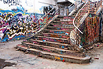 Abandoned Power Station Staircase 01 - The abandoned South Fremantle Power Station, North Coogee, Perth, Western Australia.