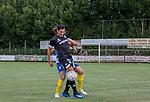 2018-07-03 / Voetbal / seizoen 2018 -2019 / KVC Westerlo - Sporting Charleroi / Bryan Van Den Bogaert (l.KVC Westerlo) met voor hem Stergos Marinos ,Foto: Mpics.be