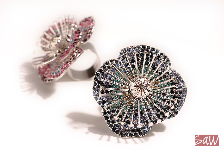 LOS ANGELES,CA - MAY 5,2008: Flower rings: Marc by Marc Jacobs, photographed in the Times Studio, May 5, 2008.