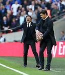 Chelsea's Antonio Conte in action during the FA Cup Semi Final match at Wembley Stadium, London. Picture date: April 22nd, 2017. Pic credit should read: David Klein/Sportimage