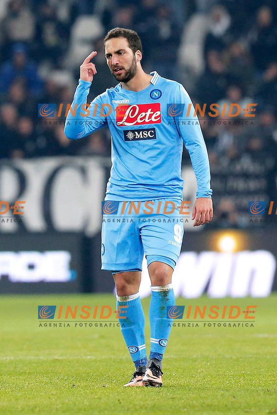 Gonzalo Higuain Napoli, Torino 10-11-2013, Juventus Stadium, Football Calcio 2013/2014 Serie A, Juventus - Napoli, Foto Marco Bertorello/Insidefoto