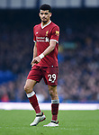 Dominic Solanke of Liverpool during the premier league match at Goodison Park Stadium, Liverpool. Picture date 7th April 2018. Picture credit should read: Robin Parker/Sportimage