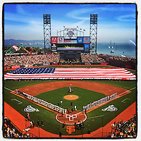SAN FRANCISCO, CA - APRIL 8:  Instagram of the interior of AT&T Park on Opening Day before the game between the Arizona Diamondbacks and San Francisco Giants on April 8, 2014 in San Francisco, California. Photo by Brad Mangin