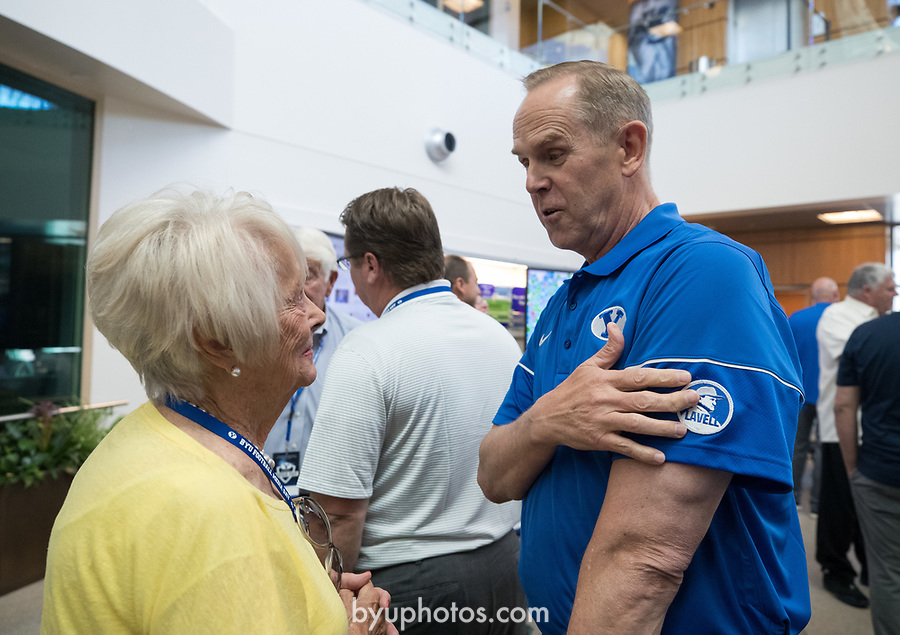 17FTB Media Day 1420<br /> <br /> 2017 BYU Football Media Day<br /> <br /> June 23, 2017<br /> <br /> Photo by Jaren Wilkey/BYU<br /> <br /> &copy; BYU PHOTO 2017<br /> All Rights Reserved<br /> photo@byu.edu  (801)422-7322