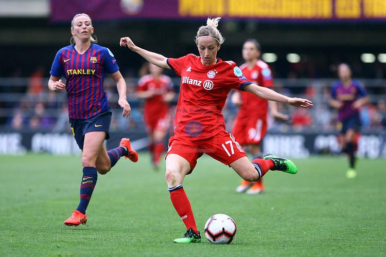 UEFA Women's Champions League 2018/2019.<br /> Semi Finals<br /> FC Barcelona vs FC Bayern Munchen: 1-0.<br /> Kathrin-Julia Hendrich.