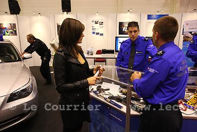 Genève, le 25.11.2009.Cité des métiers..Gardes frontière..© Le Courrier / J.-P. Di Silvestro