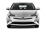 Car photography straight front view of a 2016 Toyota Prius Three Touring 5 Door Hatchback
