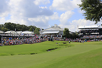 The 18th hole during Saturday's Round 3 of the 2017 PGA Championship held at Quail Hollow Golf Club, Charlotte, North Carolina, USA. 12th August 2017.<br /> Picture: Eoin Clarke | Golffile<br /> <br /> <br /> All photos usage must carry mandatory copyright credit (&copy; Golffile | Eoin Clarke)