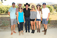 LOS ANGELES - AUG 27: Clay Walker, Ken Smith, Tina Smith, family at the Clay Walker Country at the Downs concert  at Galway Downs on August 27, 2017 in Temecula, California