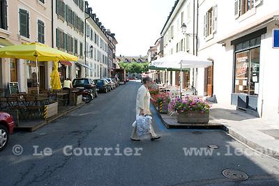 Carouge, le 27.07.2008.Rue Saint Joseph.© Le Courrier / J.-P. Di Silvestro