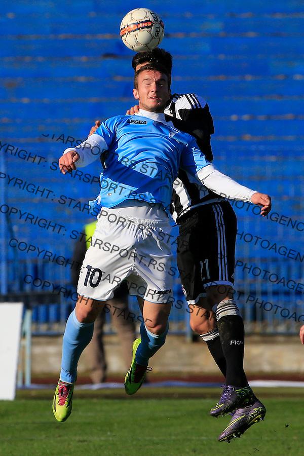 Fudbal Jelen Super League season 2015-2016<br /> Spartak v Partizan<br /> Djordje Ivanovic (L)<br /> Subotica, 29.11.2015.<br /> foto: Srdjan Stevanovic/Starsportphoto&copy;