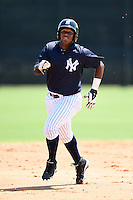 GCL Yankees 1 outfielder Alexander Palma (36) runs the bases during the first game of a doubleheader against the GCL Braves on July 1, 2014 at the Yankees Minor League Complex in Tampa, Florida.  GCL Yankees 1 defeated the GCL Braves 7-1.  (Mike Janes/Four Seam Images)