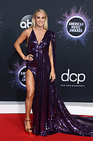 LOS ANGELES - NOV 24:  Carrie Underwood at the 47th American Music Awards - Arrivals at Microsoft Theater on November 24, 2019 in Los Angeles, CA