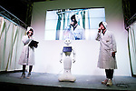 "A SoftBank robot Pepper performs during the Niconico Douga fan event at Makuhari Messe International Exhibition Hall on April 25, 2015, Chiba, Japan. The event includes special attractions such as J-pop concerts, Sumo and Pro Wrestling matches, cosplay and manga and various robot performances and is broadcast live on via the video-sharing site. Niconico Douga (in English ""Smiley, Smiley Video"") is one of Japan's biggest video community sites where users can upload, view, share videos and write comments directly in real time, creating a sense of a shared watching. According to the organizers more than 200,000 viewers for two days will see the event by internet. The popular event is held in all 11 halls of the huge Makuhari Messe exhibition center from April 25 to 26. (Photo by Rodrigo Reyes Marin/AFLO)"