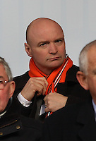 Dundee United chairman Stephen Thompson adjusting his scarf before the St Mirren v Dundee United Clydesdale Bank Scottish Premier League match played at St Mirren Park, Paisley on 27.10.12.