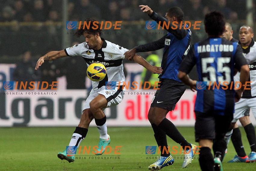 "Carvalho Amauri Parma Juan Jesus Inter.Parma 26/11/2012 Stadio ""Tardini"".Football Calcio Serie A 2012/13.Parma v Inter.Foto Insidefoto Paolo Nucci."