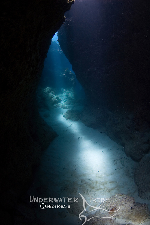 Sunlight filtering through cavern system, Yap Caverns, Yap, Federated States of Micronesia, Pacific Ocean
