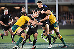 Aaron Smith (L) and Sonny Bill Williams. All Blacks beat Australia 22-0. Eden Park, Auckland. 25 August 2012. Photo: Marc Weakley