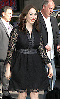 May 17, 2012: Regina Spektor at Late Show with David Letterman to talk about Conan talk show in New York City. Credit: RW/MediaPunch Inc.