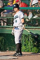 Jake Smolinski (14) of the Jupiter Hammerheads during a game vs. the Daytona Cubs May 27 2010 at Jackie Robinson Ballpark in Daytona Beach, Florida. Daytona won the game against Jupiter by the score of 8-3.  Photo By Scott Jontes/Four Seam Images