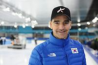 SPEEDSKATING: HEERENVEEN: 06-11-2017, IJsstadion Thialf, Topsporttraining World Cup, Bob de Jong trainer/coach Korea, ©foto Martin de Jong
