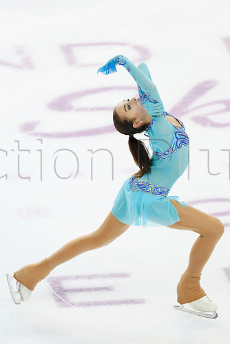 08.12.2016. Palais Omnisports, Marseille, France. ISU Junior Figure Skating Grand Prix Final.  Alina Zagitova (RUS) competes in the Women's Short Program.