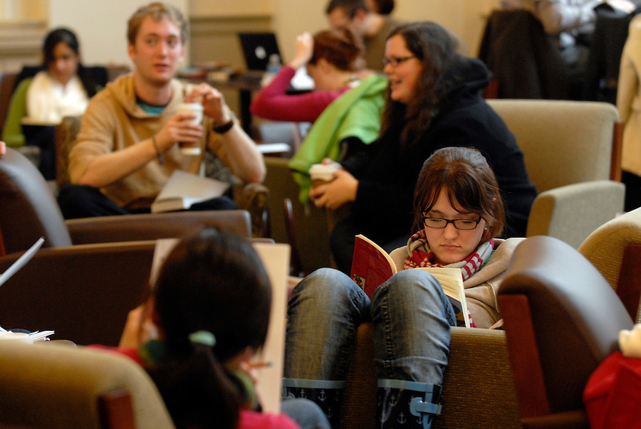 Students study at Alderman Library at the University of Virginia in Charlottesville, VA. Photo/Andrew Shurtleff