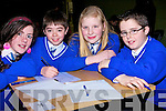 QUIZ: Pupils from Sliabh a'Mhadra National School who took part in the Clanmaurice Credit Union Stage 1 Table Quiz on Sunday in Causeway Comprehensive School. L-r: Michelle O'Regan, Chris Muvihill, Fionnnuala Keane and Jack Goulding................