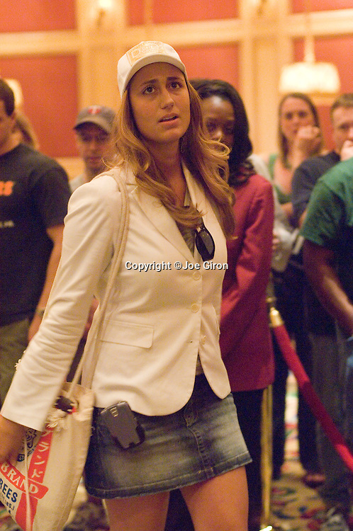 Vanessa Rousso goes all in and gets busted out in 7th. place, on the TV bubble.