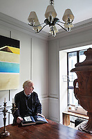 Architect Chris Dyson in the dining room of his home in Spitalfields